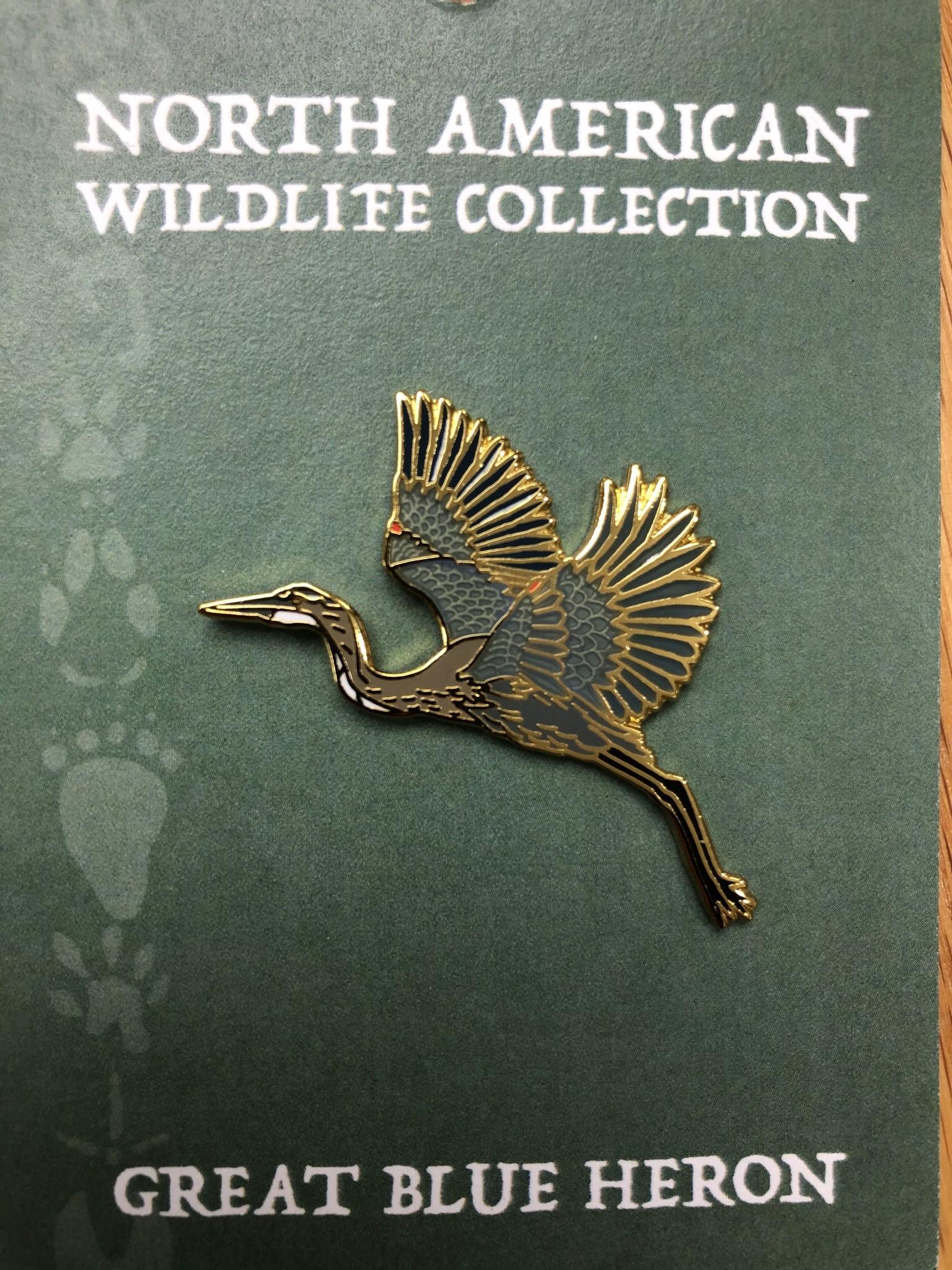 Pin Blue Heron