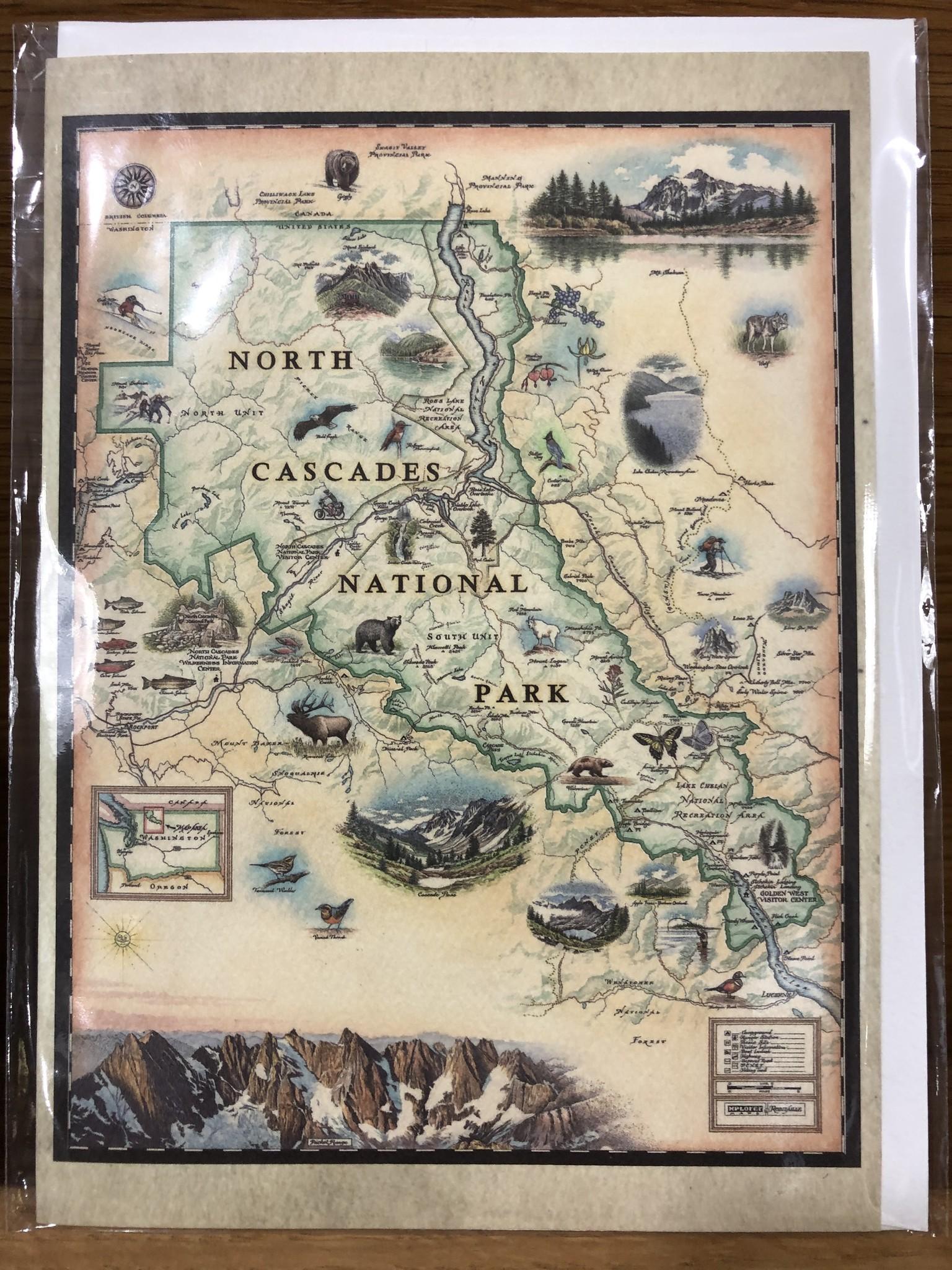 Notecard Hand-drawn Map
