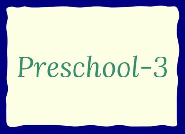 Grade: Preschool-3