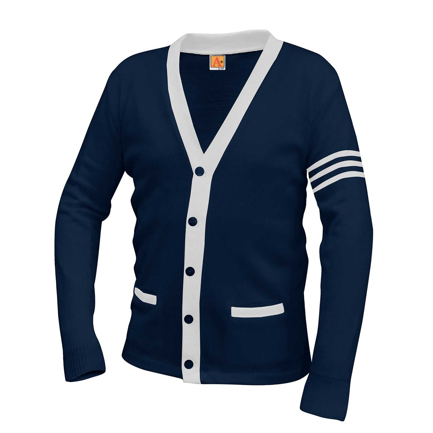 Flintridge Sacred Heart Varsity Cardigan w/ Placket Trim