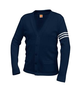 Flintridge Sacred Heart Varsity Cardigan w/ 3 Stripes