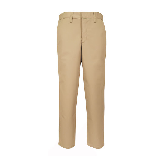 Boys Regular Flat Front w/ Adjustable Waistband Pant (7064R) Khaki