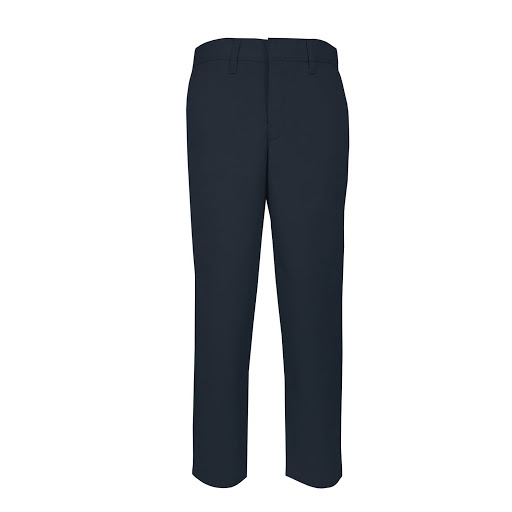 Boys Slim Flat Front w/ Adjustable Waistband Pant (7064S) Navy