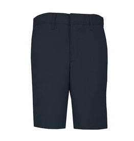 Boys Regular Plain Front Twill Shorts w/ Adjustable Waistband Short (7099R) Navy