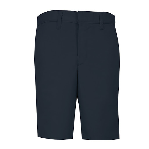 Boys Regular Plain Front Twill Shorts w/ Adjustable Waistband Short (7099R) Navy