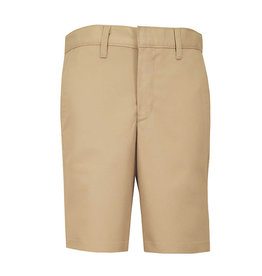 Boys Slim Plain Front Twill Short w/ Adjustable Waistband (7099S) Khaki