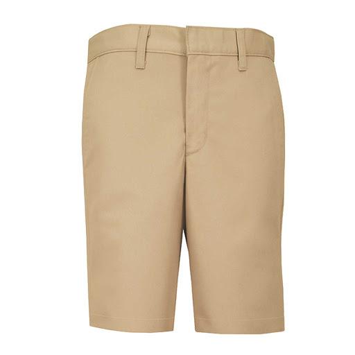Boys Regular Plain Front Twill Shorts w/ Adjustable Waistband Short (7099R) Khaki