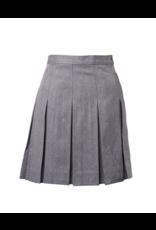 Gabardine Box Pleat Skirt