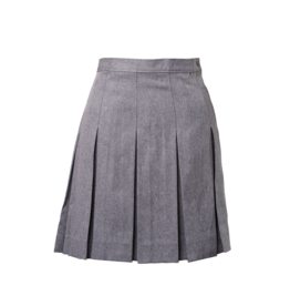 Gabardine Box Pleat Skirt
