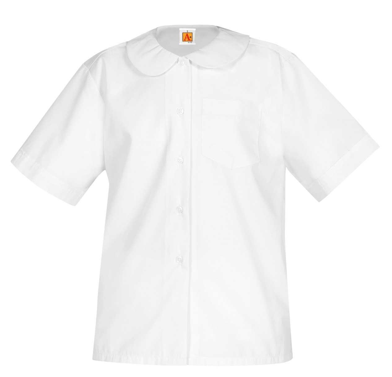 Peter Pan S/S Blouse w/ Pocket (9380) White