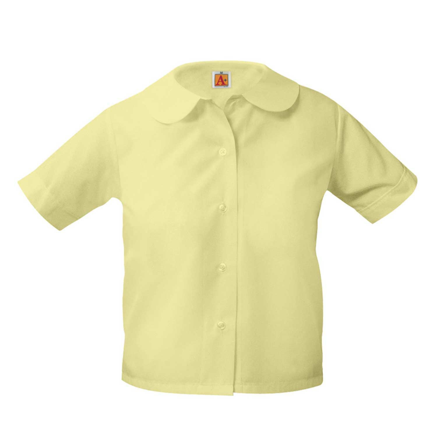 Peter Pan S/S Blouse w/ Pocket (9380) Yellow