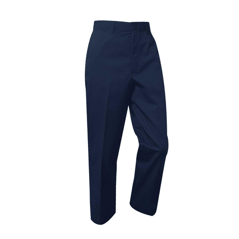 Boys Husky Flat Front w/ Adjustable Waistband Pant (7750H) Navy
