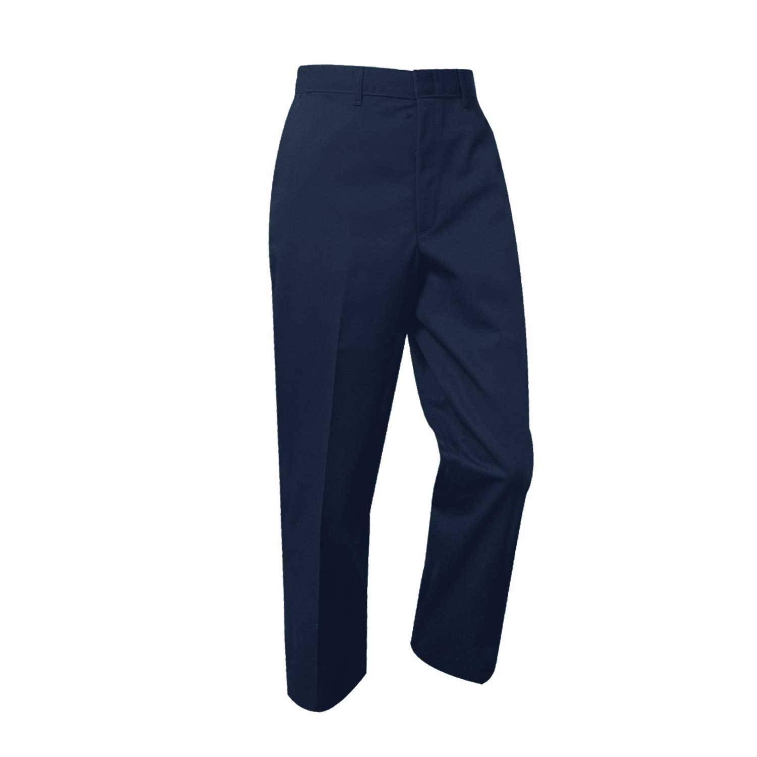 Boys Slim Flat Front w/ Adjustable Waistband Pant (7750S)  Navy