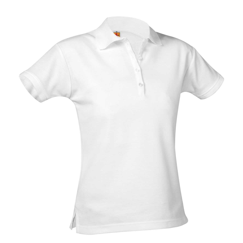 St. Monica Girls White Polo