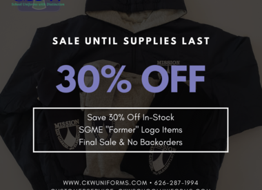 Sale - Until Supplies Last
