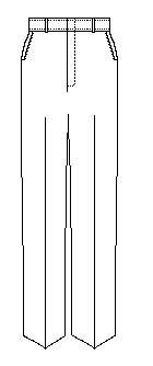 Boys Husky Plain Pant with Hidden Elastic (7120H)