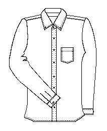 Girls Long Sleeve Oxford (5575)