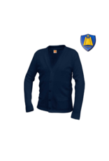 St. Rita Cardigan Sweater with Logo