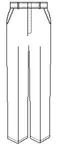 Boys Regular Flat Front w/ Adjustable Waistband Pant (7750R) Grey