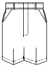 Mens Flat Front Shorts (7033M)