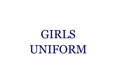 Girls Uniform