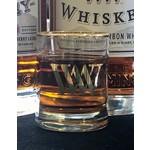 Gold Rim shot glass 3 oz