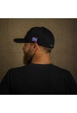 Yupoong Mid-Profile Black Cotton Ball Cap - One Size