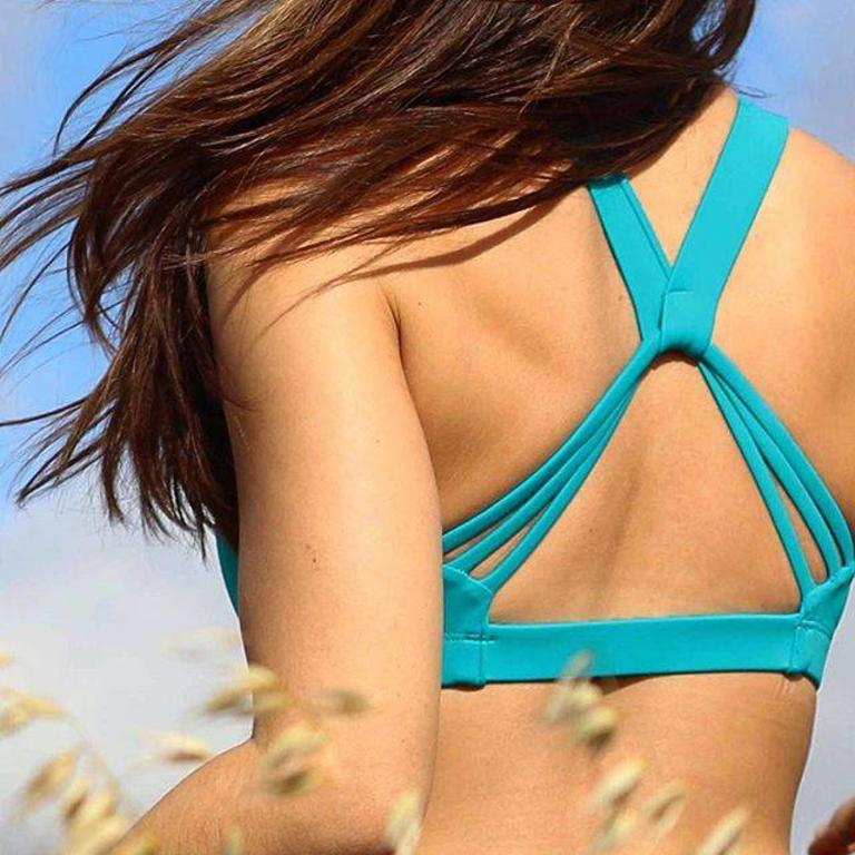 239c8cd9fe Valleau - Lotus Sports Bra Top (floral and teal) - Bellissimo
