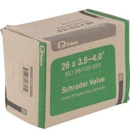 """26x3.5-4.0"""" Q-Tubes Fat Bike Tube: 32mm Schrader Valve"""