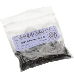 Wheelsmith 2.0 x 16mm Black Brass Nipples, Bag of 50