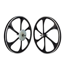 Mag Wheel Set 26x1.5 (559x27) Alloy w/44T-Fixed Gear Black