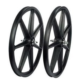 "Skyway Skyway 24"" Tuff Wheel Set, Black - Freewheel"