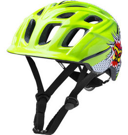 Kali Protectives Kali Protectives Chakra Child Helmet: Pow Green/Black One Size