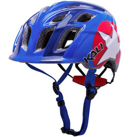 Kali Protectives Kali Chakra Child Helmet: Star Blue/Red, One Size