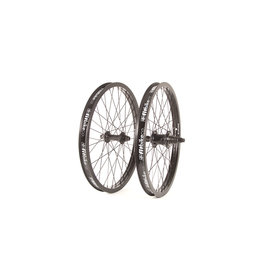 "Fit Bike Co 20"" FIT Freecoaster Wheel Set Right Side Drive, Double Wall. Male 14mm R, Female 3/8"" F. All Black"