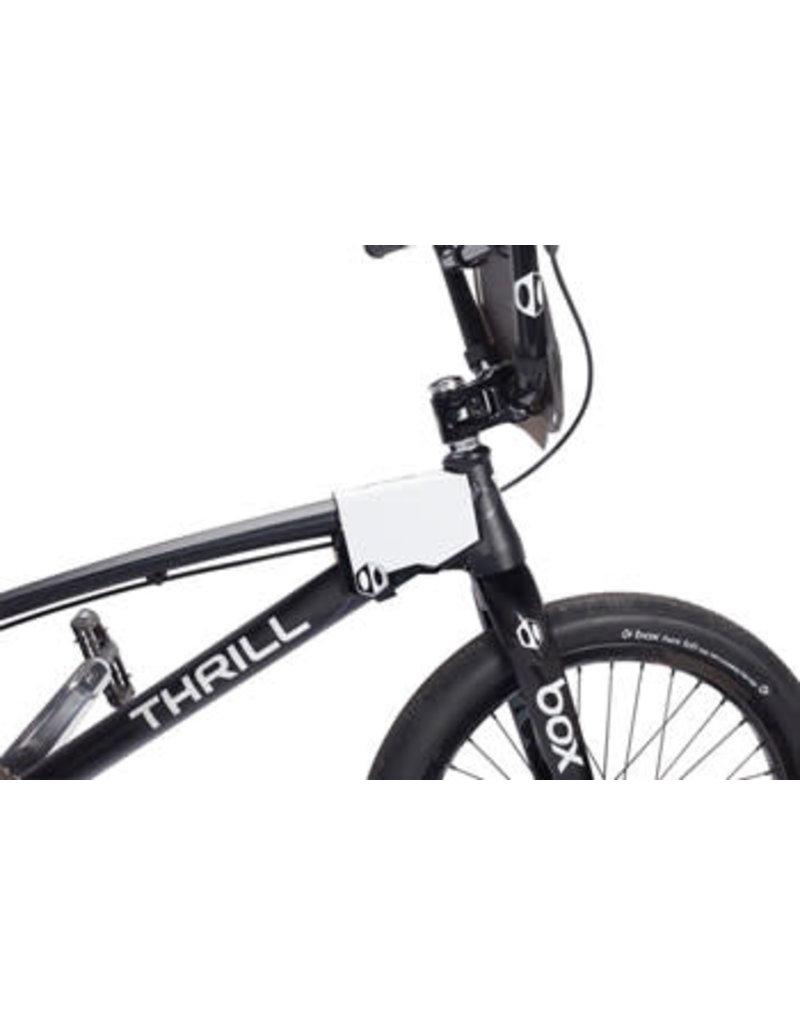 Black Chrome Small BOX Phase 1 BMX Race Number Plate Mini