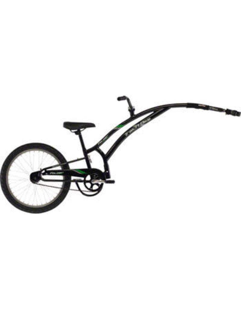 Adams Trail A Bike Compact Folder Child Trailer: Black