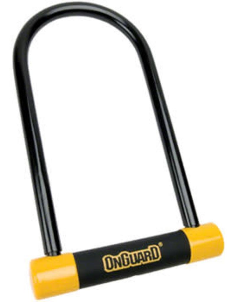 "OnGuard BullDog U-Lock with Bracket: 4.5x9"", Black/Yellow"