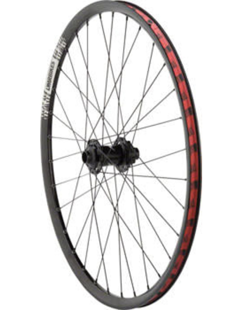 "DMR DMR Pro 26"" Front Wheel, 20mm 6-Bolt Disc 32h Black"