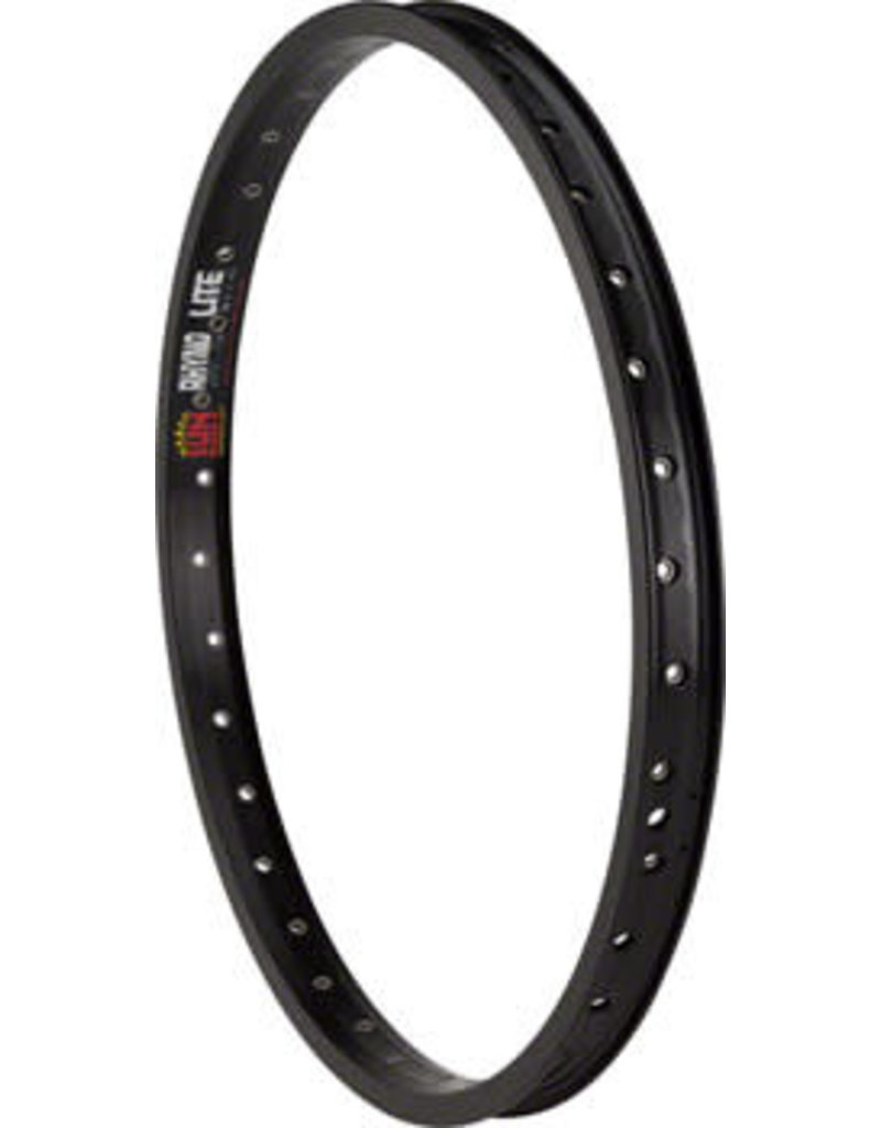 "Sun Ringle Sun Ringle Rhyno Lite XL Rim 20"" 36h Schrader, Black"