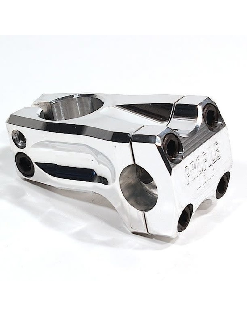 Profile Racing Profile Racing Acoustic Stem +/- 0 degree, 53mm Silver Polished