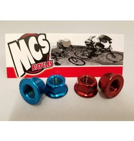 MCS MCS Steel Axle Nuts Blue 3/8""