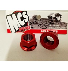MCS MCS Steel Axle Nuts Red 14mm