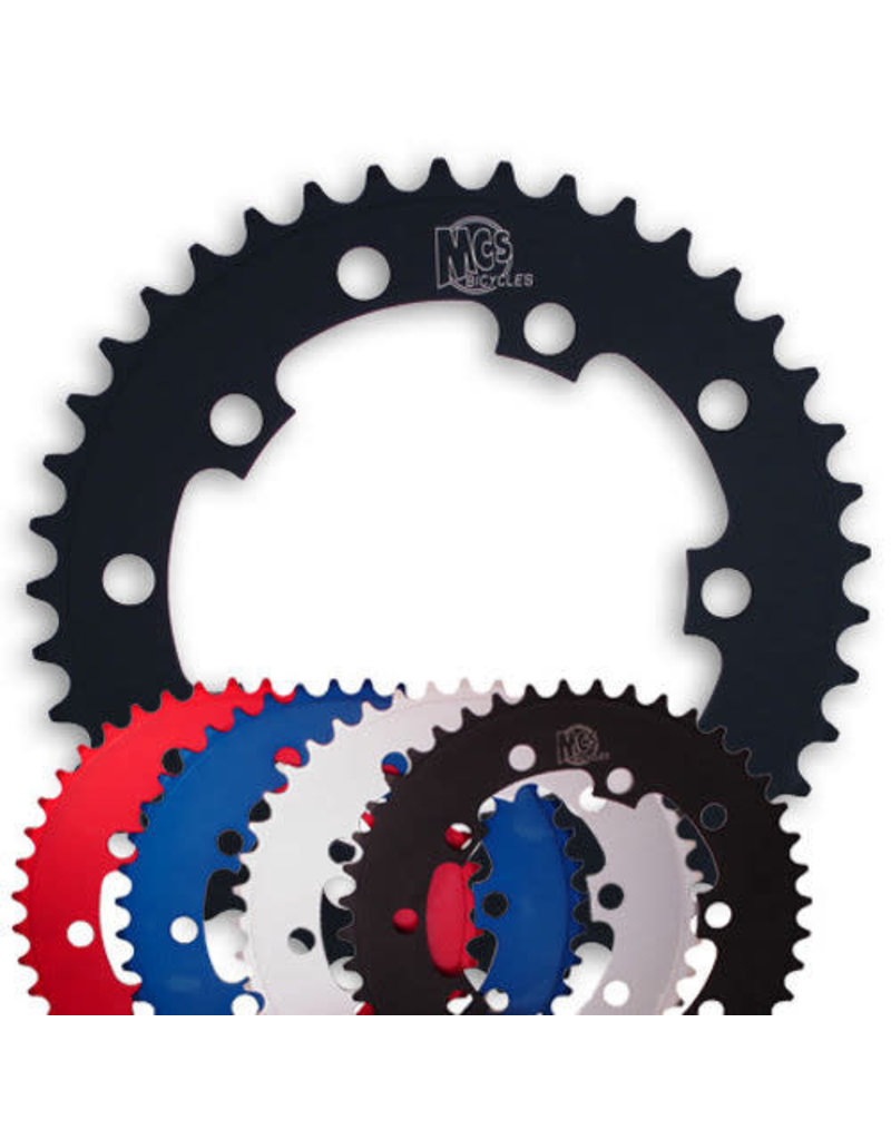MCS MCS 5-Bolt Chainring - 39T Red