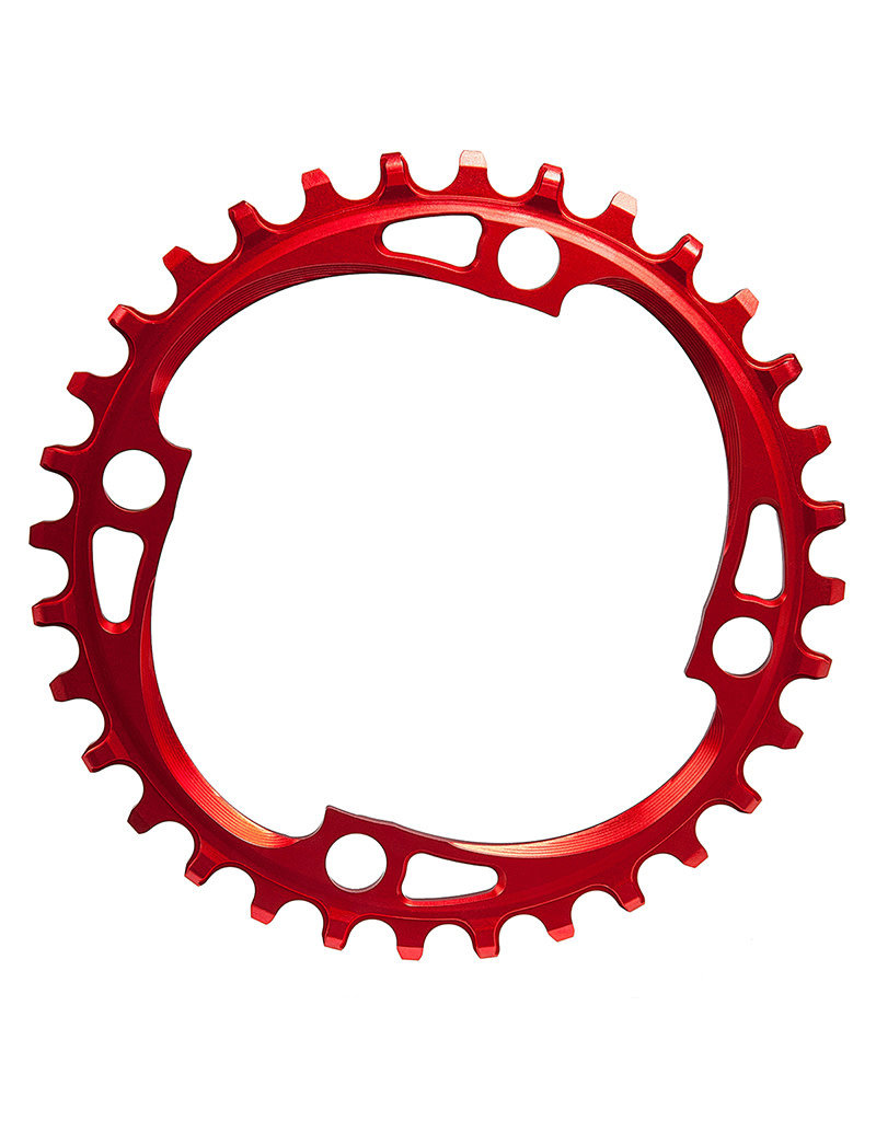 ABSOLUTE BLACK Chainring, 104BCD 32T 4 Bolt - Red