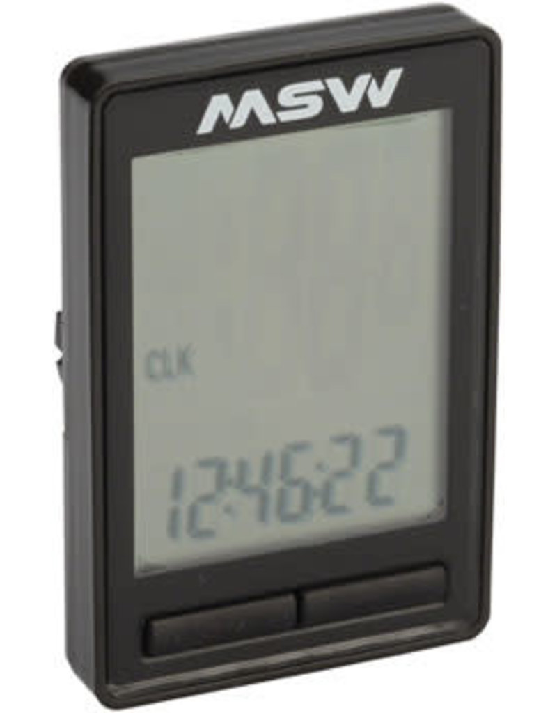 MSW MSW Miniac Wireless Bike Computer - Wireless, Black