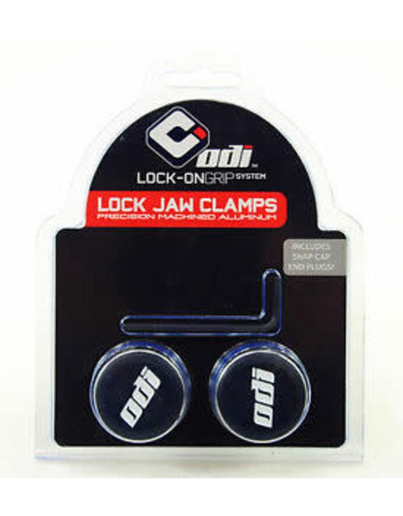 ODI ODI Lock Jaw clamps w/ Snap caps Silver set/4
