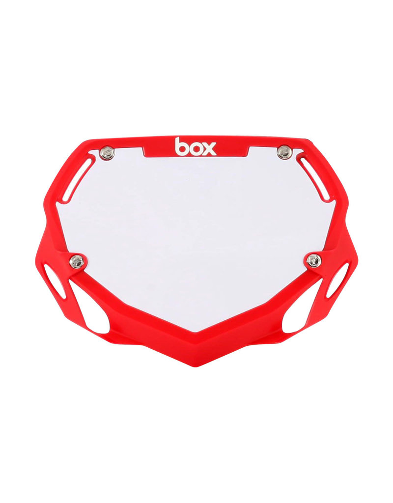 BOX COMPONENTS Box Two Mini/Cruiser BMX Number Plate - Small Translucent Red