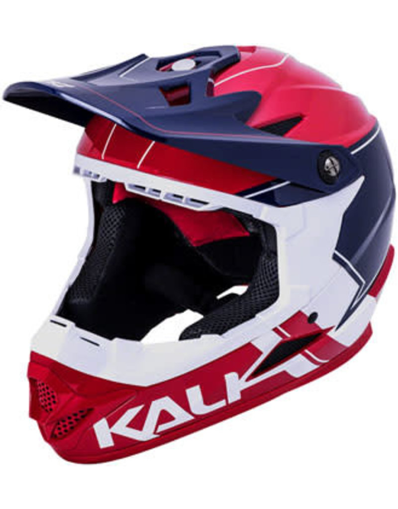 Kali Protectives Kali Zoka Switchback Helmet: Gloss Red/White/Blue, SM