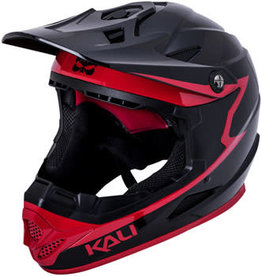 Kali Protectives Kali Zoka Grit Helmet: Gloss Black/Red, SM